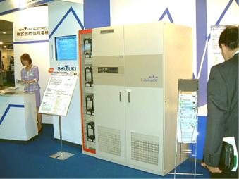 キャパシタによる100kVA瞬時電圧低下補償装置