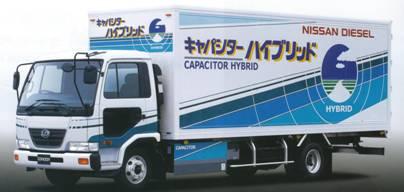 発売された世界初のキャパシタハイブリッド・トラック
